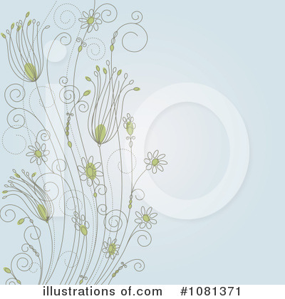 Floral Background Clipart #1081371 by Vector Tradition SM