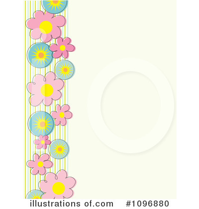 Floral Background Clipart #1096880 by Maria Bell