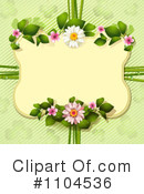 Royalty-Free (RF) Floral Background Clipart Illustration #1104536