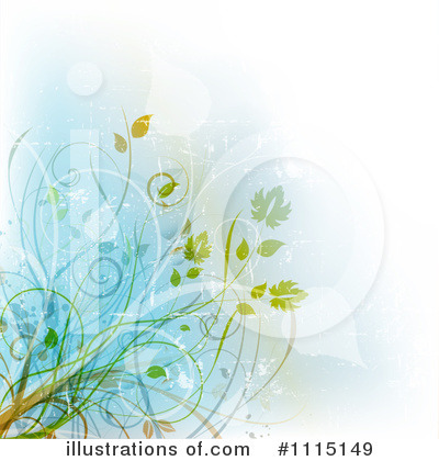 Floral Background Clipart #1115149 by KJ Pargeter