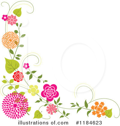 Royalty-Free (RF) Floral Background Clipart Illustration by dero - Stock Sample #1184623