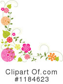 Royalty-Free (RF) Floral Background Clipart Illustration #1184623