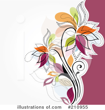 Floral Background Clipart #210955 by OnFocusMedia