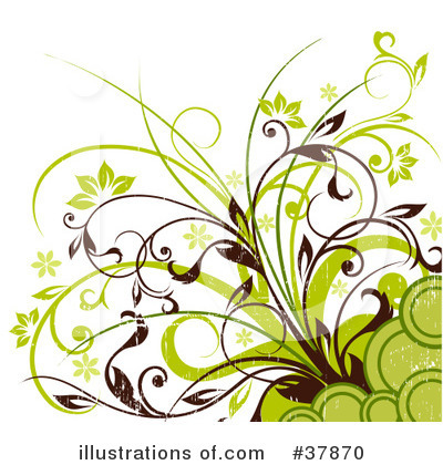 Floral Background Clipart #37870 by OnFocusMedia