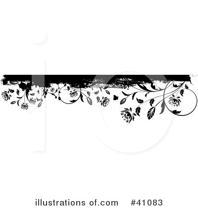 free clip art borders flowers. Floral Border Clipart #41083