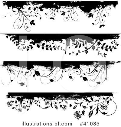flower clip art borders. Floral Border Clipart #41085
