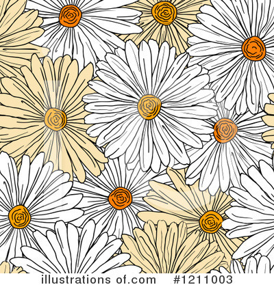 Daisy Clipart #1211003 by Vector Tradition SM