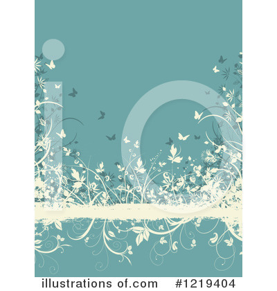 Floral Background Clipart #1219404 by KJ Pargeter