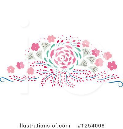 Floral Clipart #1254006 by Cherie Reve