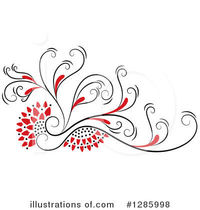 Royalty-Free (RF) Floral Clipart Illustration by Cherie Reve - Stock Sample #1285998