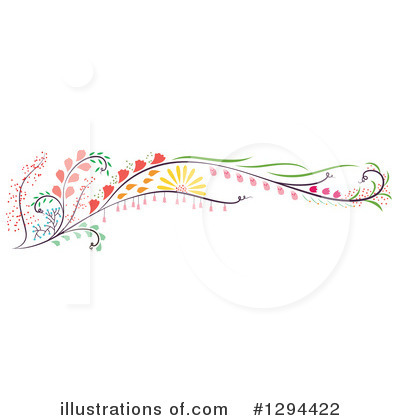 Floral Clipart #1294422 by Cherie Reve