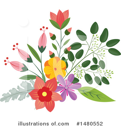Royalty-Free (RF) Floral Clipart Illustration by Cherie Reve - Stock Sample #1480552