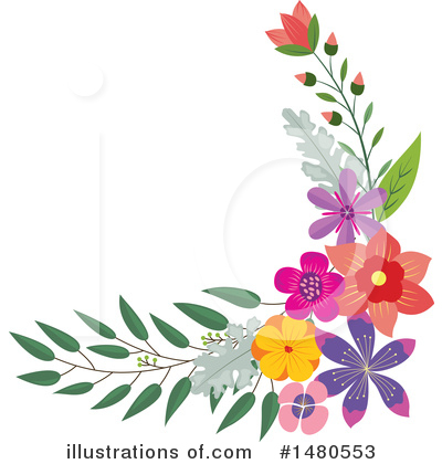 Floral Clipart #1480553 by Cherie Reve