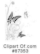 Royalty-Free (RF) Floral Clipart Illustration #87353