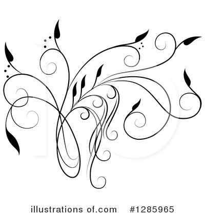 Royalty-Free (RF) Floral Design Element Clipart Illustration by Cherie Reve - Stock Sample #1285965