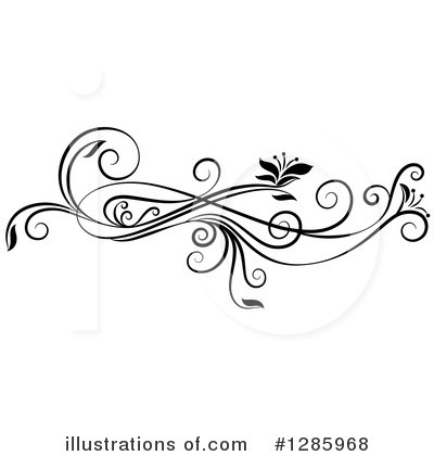 Royalty-Free (RF) Floral Design Element Clipart Illustration by Cherie Reve - Stock Sample #1285968