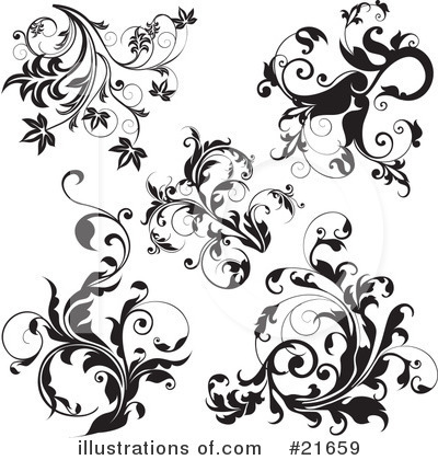 Floral Elements Clipart #21659 by OnFocusMedia