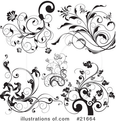 Floral Elements Clipart #21664 by OnFocusMedia