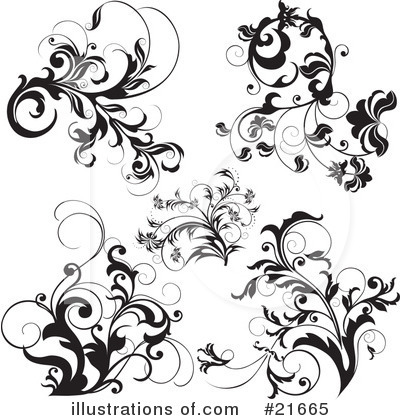 Royalty-Free (RF) Floral Elements Clipart Illustration by OnFocusMedia - Stock Sample #21665