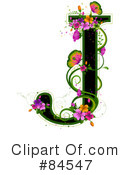 Royalty-Free (RF) Floral Letter Clipart Illustration #84547