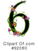 Royalty-Free (RF) Floral Number Clipart Illustration #92080