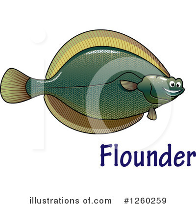 Flounder Clipart #1260259 by Vector Tradition SM
