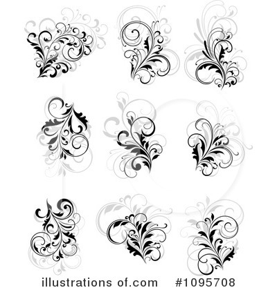 Flourish Clipart #1095708 by Vector Tradition SM