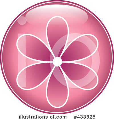 Royalty-Free (RF) Flower Button Clipart Illustration by Pams Clipart - Stock Sample #433825