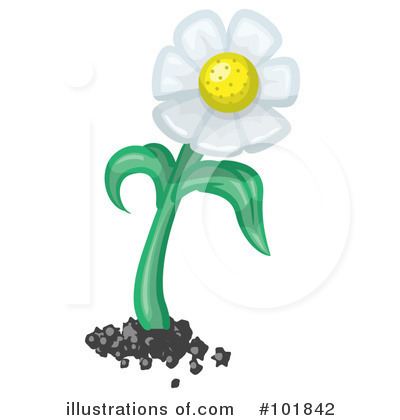 Daisy Clipart #101842 by Leo Blanchette