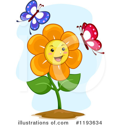 Royalty-Free (RF) Flower Clipart Illustration by BNP Design Studio - Stock Sample #1193634
