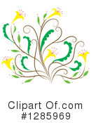 Royalty-Free (RF) Flower Clipart Illustration #1285969