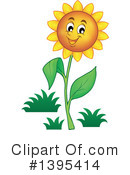 Royalty-Free (RF) Flower Clipart Illustration #1395414