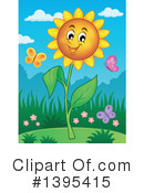 Royalty-Free (RF) Flower Clipart Illustration #1395415
