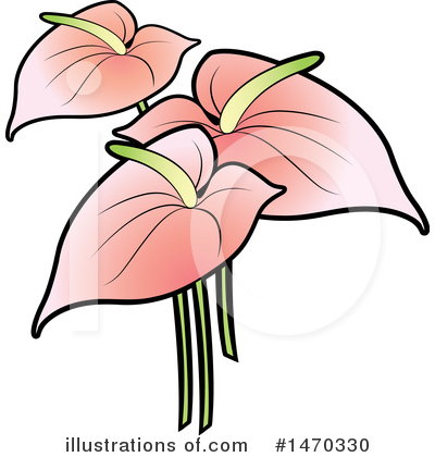 Royalty-Free (RF) Flower Clipart Illustration by Lal Perera - Stock Sample #1470330
