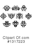 Flower Design Element Clipart #1317223 by Vector Tradition SM