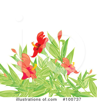 Royalty-Free (RF) Flowers Clipart Illustration by MilsiArt - Stock Sample #100737