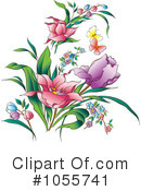Royalty-Free (RF) Flowers Clipart Illustration #1055741