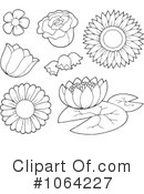 Royalty-Free (RF) Flowers Clipart Illustration #1064227
