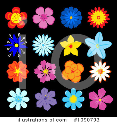 Daisy Clipart #1090793 by Vector Tradition SM