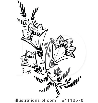 Flowers Clipart #1112570 by Prawny Vintage