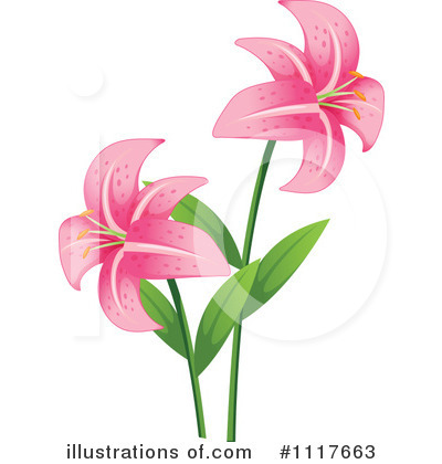 Lilies Clipart #1117663 by Graphics RF