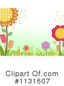Royalty-Free (RF) Flowers Clipart Illustration #1131607