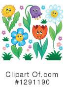 Royalty-Free (RF) Flowers Clipart Illustration #1291190