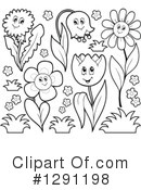 Royalty-Free (RF) Flowers Clipart Illustration #1291198