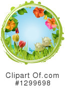 Royalty-Free (RF) Flowers Clipart Illustration #1299698