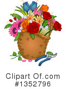 Royalty-Free (RF) Flowers Clipart Illustration #1352796