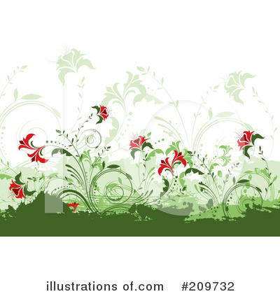 Royalty-Free (RF) Flowers Clipart Illustration by KJ Pargeter - Stock Sample #209732
