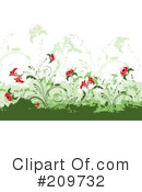 Royalty-Free (RF) Flowers Clipart Illustration #209732
