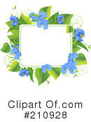 Royalty-Free (RF) Flowers Clipart Illustration #210928