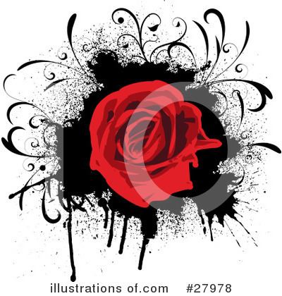 Royalty-Free (RF) Flowers Clipart Illustration by KJ Pargeter - Stock Sample #27978